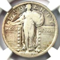 1921 STANDING LIBERTY QUARTER 25C COIN - CERTIFIED NGC F12 FINE -  DATE