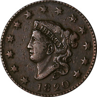 1820 LARGE CENT   N.11 GREAT DEALS FROM THE EXECUTIVE COIN C