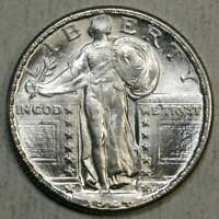 1924-D STANDING LIBERTY QUARTER, CHOICE UNCIRCULATED, ORIGINAL BRIGHT BU 0602-07