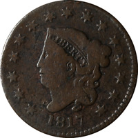 1817 LARGE CENT   N 16 15 STARS GREAT DEALS FROM THE EXECUTI