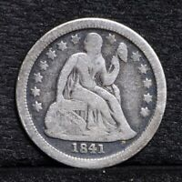 1841-O SEATED LIBERTY DIME - VG DETAILS 30467
