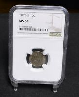 1876-S SEATED LIBERTY DIME - NGC MINT STATE 64 30793