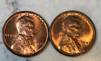 1949P&S  LINCOLN CENTS. 2 COINS  UNCIRCULATED.