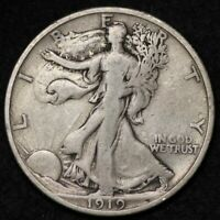 1919 WALKING LIBERTY HALF DOLLAR CHOICE FINE SHIPS FREE E296 SFT