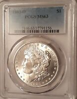 1883 O MORGAN SILVER DOLLAR MINT STATE 63 UNC PCGS VAM 3 DOUBLE O/O TOP 100