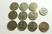 SINGAPORE 1985   2011 20 CENTS X 10 DIFFERENT YEARS