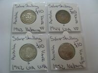 AUSTRALIA 1942 1944 1942 1952 SILVER SHILLING EARLY YEARS  4