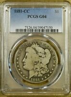 1881-CC PCGS G04 MORGAN DOLLAR