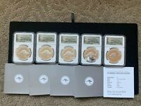 5 PC LOT 2013 AUSTRALIA KANGAROO $1  20TH ANNIVERSARY 1OZ.99