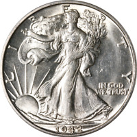 1942-S WALKING LIBERTY HALF GREAT DEALS FROM THE EXECUTIVE COIN COMPANY