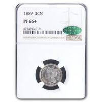 1889 THREE CENT NICKEL PF-66 NGC CAC - SKU214624