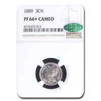 1889 THREE CENT NICKEL PF-66 CAMEO NGC CAC - SKU214616