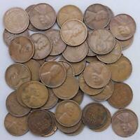 1941 S LINCOLN WHEAT CENT ROLL 50 CIRCULATED PENNIES US COINS
