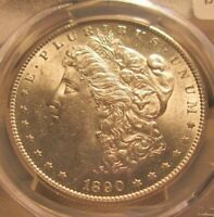 1890-S MORGAN DOLLAR PCGS AU58