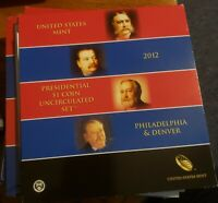 2012 P   D PRESIDENTIAL DOLLAR 8 COIN SET MINT ISSUED NO RES