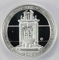 2010 S 90  SILVER HOT SPRINGS DEEP CAMEO GEM PROOF NO RESERV