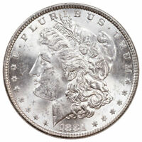 1881 $1 MORGAN SILVER DOLLAR BU BRILLIANT UNCIRCULATED COIN
