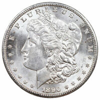 1890 S $1 MORGAN SILVER DOLLAR BU BRILLIANT UNCIRCULATED COIN