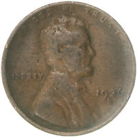 1936 D LINCOLN WHEAT CENT FINE PENNY FN