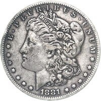 1881 MORGAN SILVER DOLLAR  FINE VF