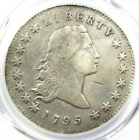 1795 FLOWING HAIR SILVER DOLLAR $1 COIN - PCGS GENUINE - VF DETAILS -
