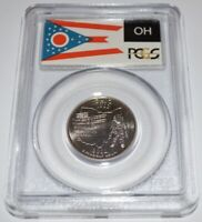 2002 P OHIO STATE QUARTER MS68 PCGS WITH STATE FLAG HOLDER
