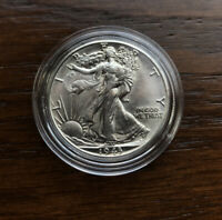 1943-D SILVER WALKING LIBERTY HALF DOLLAR IN  CHOICE BU CONDITION
