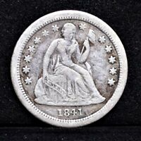 1841-O SEATED LIBERTY DIME - VG DETAILS 31097