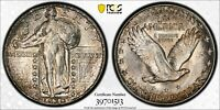 1930 STANDING LIBERTY QUARTER PCGS MINT STATE 64 FULL HEAD NEAT SHIMMERING SILVER