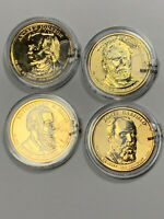 4 2011 GOLD PLATED PRESIDENTIAL DOLLARS-JOHNSON, GRANT, HAYES, GARFIELD