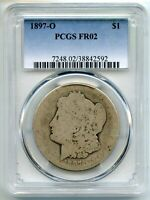1897-O MORGAN SILVER DOLLAR PCGS FR02 CERTIFIED - NEW ORLEANS MINT BJ259