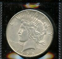 1928 S UNITED STATES PEACE SILVER DOLLAR $1 COIN EI500