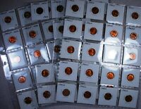 PARTIAL ROLLS OF 1945P 28 PCS AND 1945D 26 PCS 54 PIECES TOTAL CHOICE RED BU