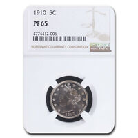 1910 LIBERTY HEAD V NICKEL PF-65 NGC - SKU163369