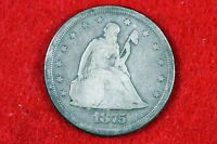 ESTATE FIND 1875   S SEATED LIBERTY TWENTY CENT PIECE    H10