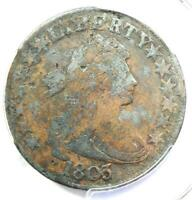 1803 DRAPED BUST HALF DOLLAR 50C WITH SMALL 3 - PCGS FINE DETAILS -  COIN