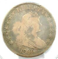 1806 DRAPED BUST HALF DOLLAR 50C COIN - CERTIFIED PCGS VG DETAILS