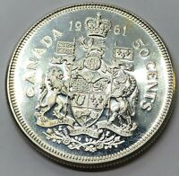 1961 CANADA 50 CENT HALF DOLLAR SILVER PROOF COIN  G233