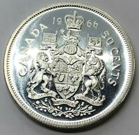 1966 CANADA 50 CENT HALF DOLLAR SILVER PROOF COIN  G236