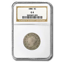 1886 LIBERTY HEAD V NICKEL GOOD-4 NGC - SKU31104