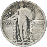 1927 S STANDING LIBERTY QUARTER 90 SILVER GOOD GD SEE PICS D795