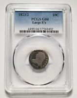 1823/2 LARGE E'S 10C UNITED STATES CAPPED BUST DIME - PCGS G 04