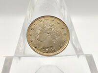 1904 HIGH AU LIBERTY V NICKEL GREAT EYE APPEAL GREAT COIN