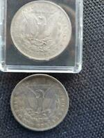 2  1878 7 TAILFEATHER REVERSE OF 1878 MORGAN SILVER DOLLARS SHIPS FREE