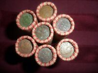 LOT OF 7 SHOTGUNS ROLLS   WHEAT PENNIES   INDIAN HEAD ON THE END