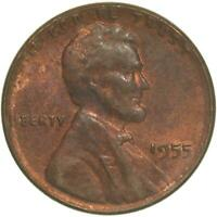 1955 LINCOLN WHEAT CENT ABOUT UNCIRCULATED PENNY AU