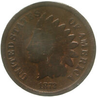 1872 INDIAN HEAD CENT GOOD PENNY GD OLD CLEANING SEE PICS C998