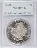 1898-O MORGAN DOLLAR PCGS MINT STATE 65 DMPL DEEP MIRROR PROOFLIKE OLD HOLDER BME7