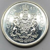 1965 CANADA 50 CENT HALF DOLLAR SILVER PROOF COIN  G237