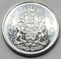 1966 CANADA 50 CENT HALF DOLLAR SILVER PROOF COIN  G238